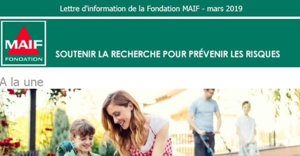 Fondation MAIF - Lettre d'information - Mars 2019