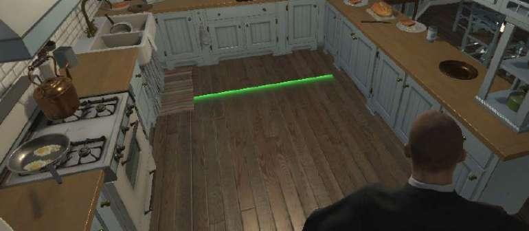 scène de réalité virtuelle dans une cuisine