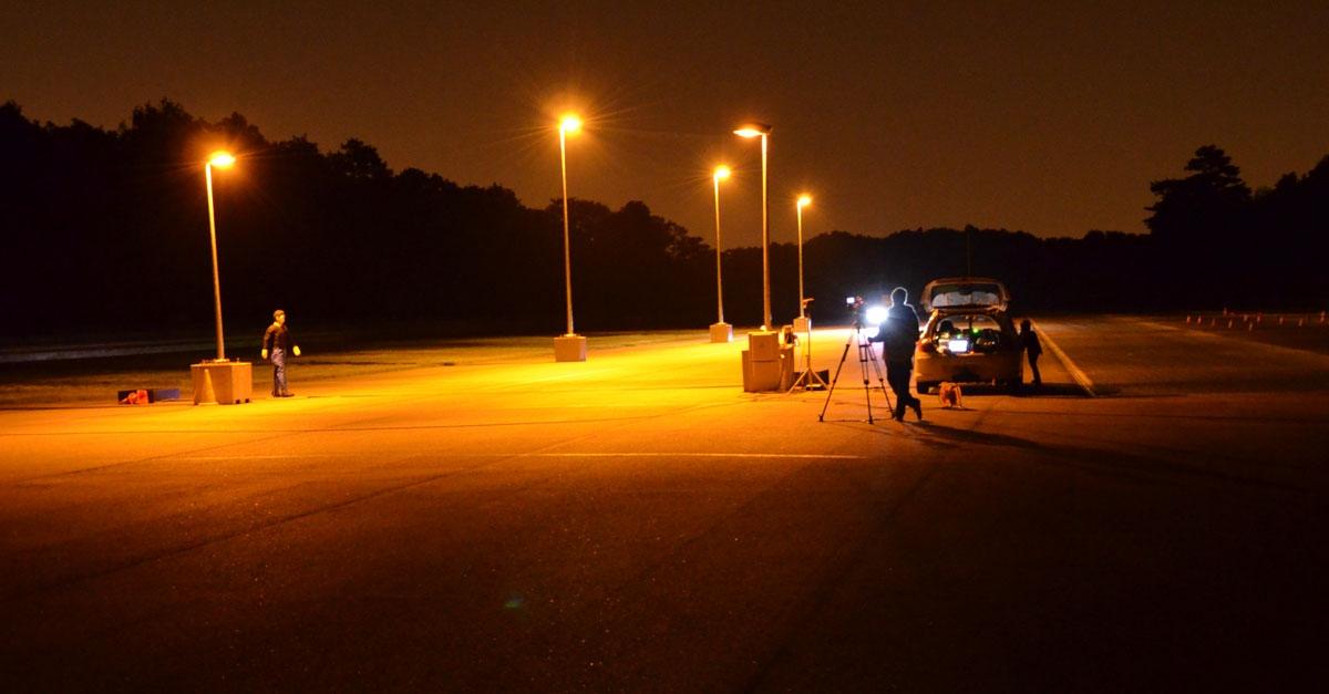 Élaboration de tests de freinage d'urgence nocturne