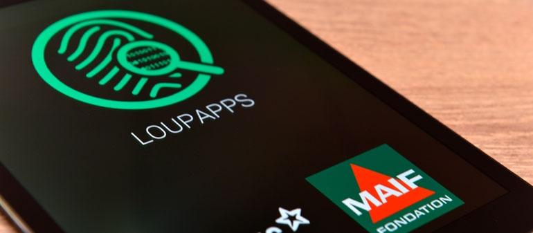 application LoupApps qui sensibilise  les utilisateurs au niveau de droits ils accordent en téléchargeant une application