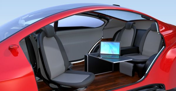 Prototype d'une voiture  autonome et futuristique